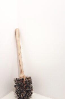drewniana szczotka do wc